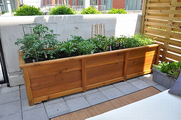 Build your own container garden for Balcony herb garden designs containers