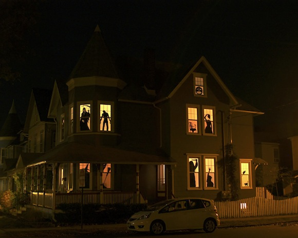 Make Your Own Haunted House Silhouettes