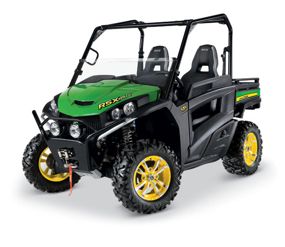 RSX850i Sport Green %26 Yellow The John Deere Gator Gets a High Performance Upgrade