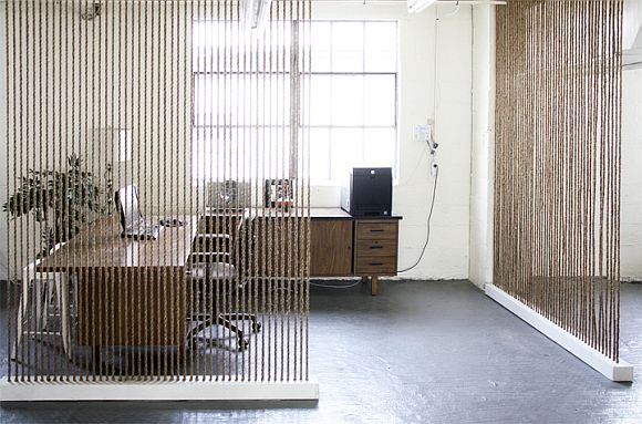 Seeking An Inventive Room Divider? Try A Rope Wall!