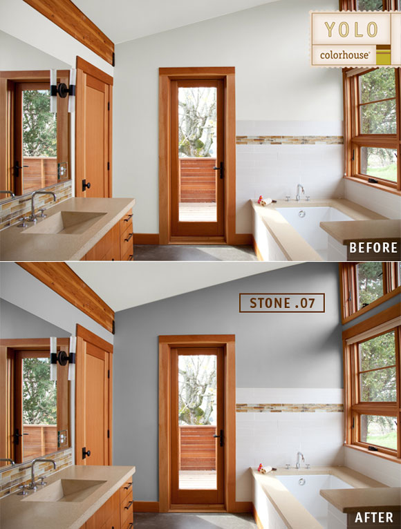before after bathroom Before and Afters: Color Makes a World of Difference