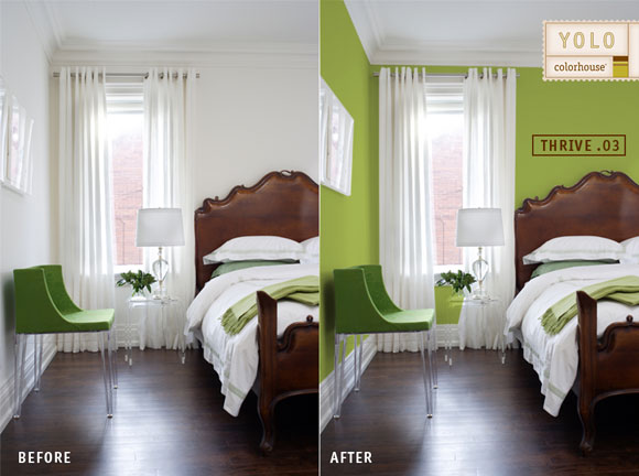 before after bedroom thrive Before and Afters: Color Makes a World of Difference