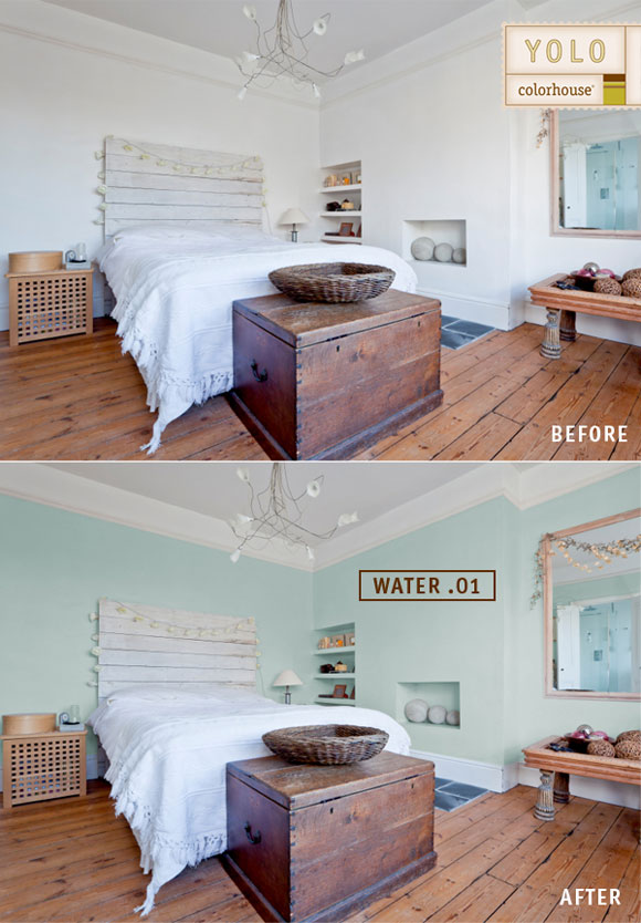before after bedroom Before and Afters: Color Makes a World of Difference