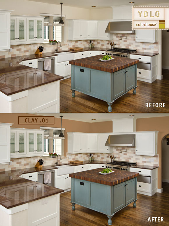 before after kitchen Before and Afters: Color Makes a World of Difference