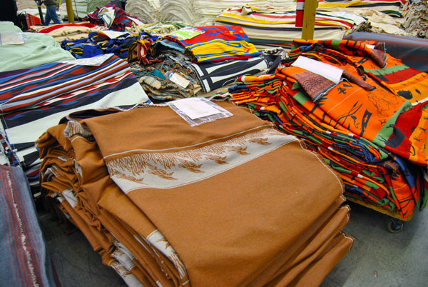 blankets orange Pendleton Woolen Mills Factory Tour