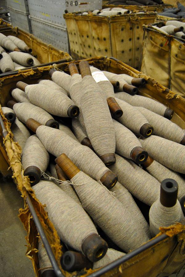 bobbins yarn Pendleton Woolen Mills Factory Tour