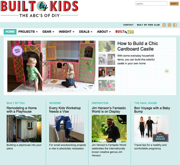 built by kids website Introducing Built by Kids   The ABCs of DIY