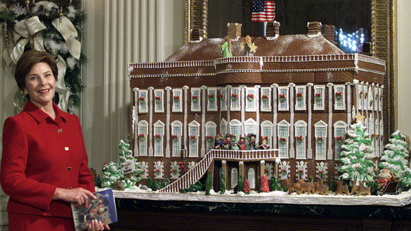 bush gingerbread house White House Christmas Decorating Ideas