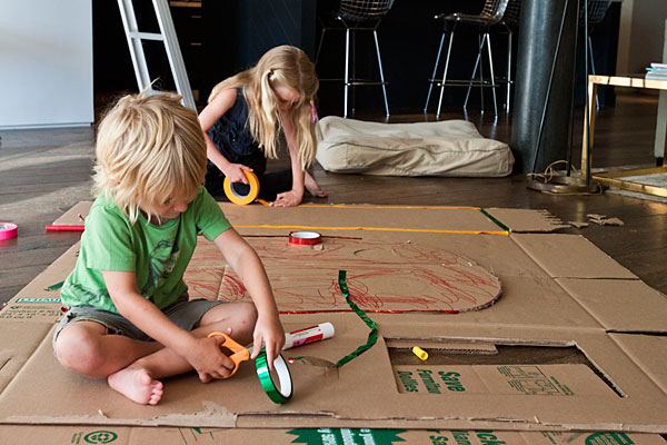 cardboard decorating Introducing Built by Kids   The ABCs of DIY