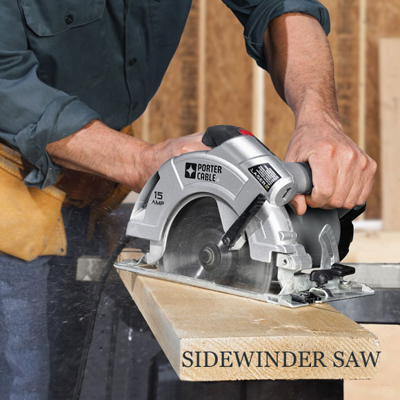 circular SIDEWINDER saw porter cable What Type of Circular Saw Do You Use? Sidewinder or Worm Drive?