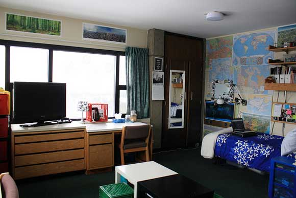 Small space tips college dorm room design for Design your dorm room layout