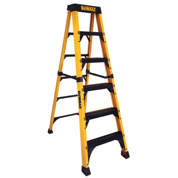 dewalt stepladder Hang Christmas Lights Safely With This DeWALT Fiberglass Stepladder
