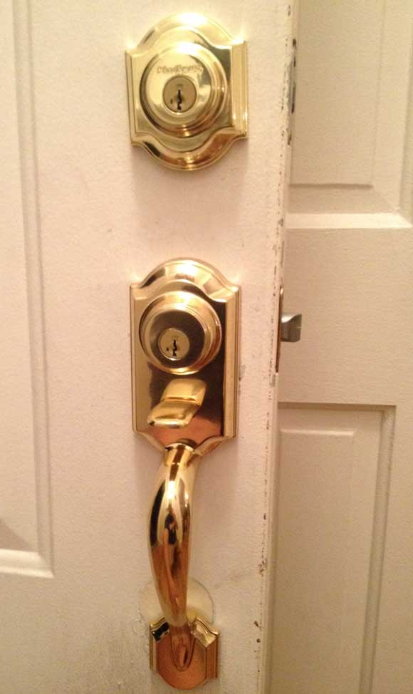 exterior handle Kwikset Double Locked Handleset