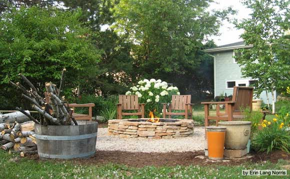 Build a Fire Ring Pit With Stone and Sweat