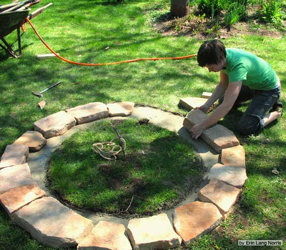 fire ring wall Build a Fire Ring Pit With Stone and Sweat
