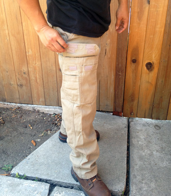 gear storage Duluth Firehose Work Pants are Wild Boar Resistant
