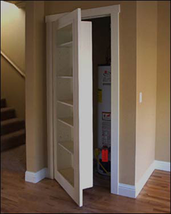 Do It Yourself Home Design: Woodwork Making A Hidden Door PDF Plans