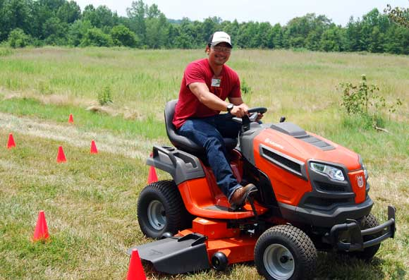 husqvarna riding mower timothy A Day of Chainsaws, Trimmers and Mowers with Husqvarna