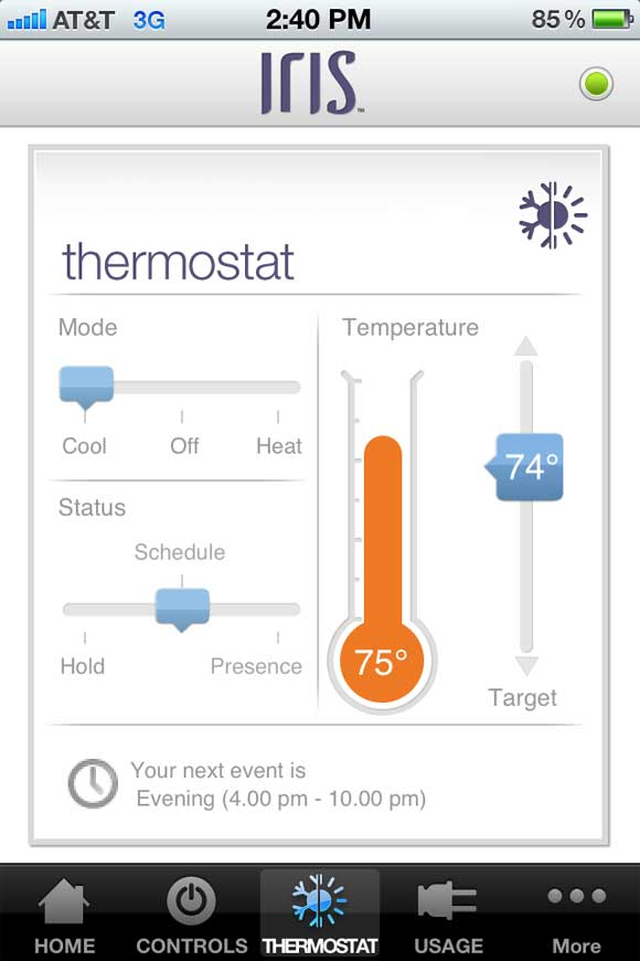 ios Thermostat Lowes Launches Iris   A Smart Home Solution
