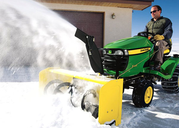 john deere snow blower riding mower Convert Your Riding Lawnmower Into a Snow Clearing Machine