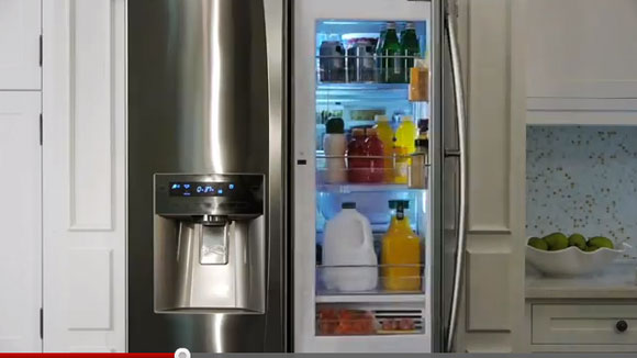 kenmore grab go refridgerator Kenmore Grab N Go Fridge has a Door within a Door
