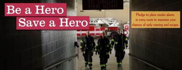 kidde smoke alarm event Be a Hero, Save a Hero with a Kidde Smoke Alarm
