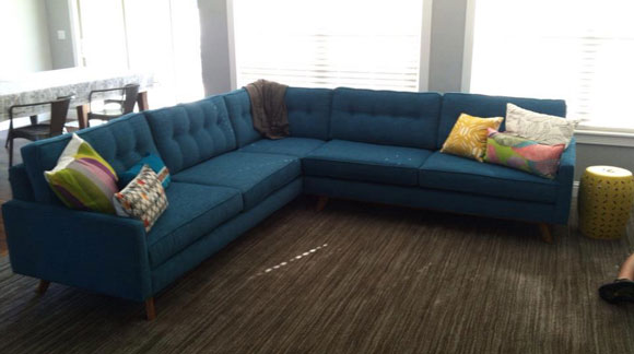 lucky turquoise Get the Mad Men Look with Mid Century Furniture from Thrive