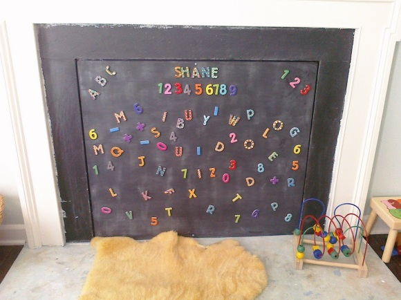 Creative Childproofing Ideas: A Magnetic Fireplace Cover