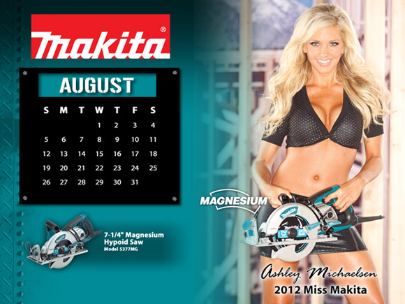 makita tool girl Tool Girl Pinup Calendars