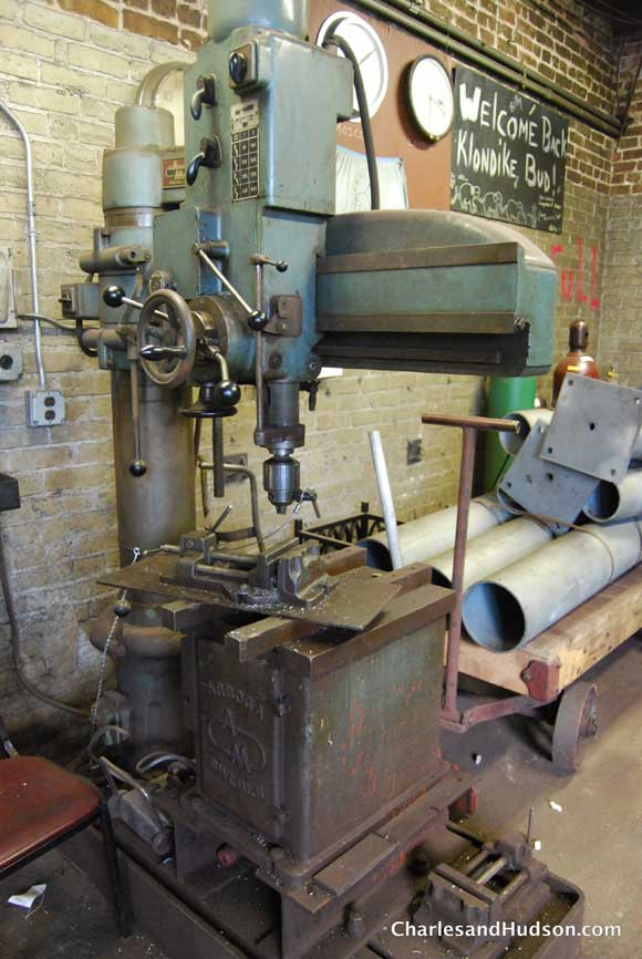 metal drill press Inside a Chicago Woodshop   Untouched for 65 Years