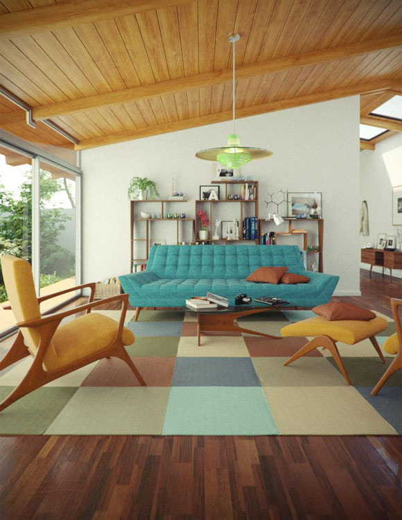 mid century modern home Mid Century Modern Furniture Can Work in Any Home