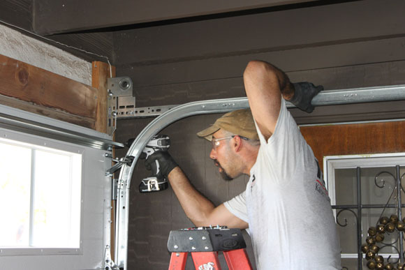 mike installing track Clopay Garage Door: Easy to Design and Quick to Install