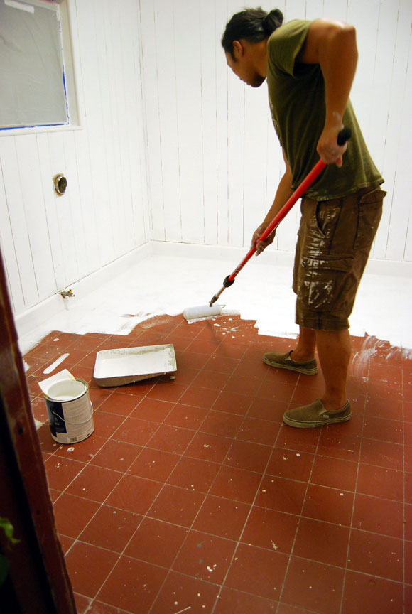 painting floor The Best Laundry Room Upgrades