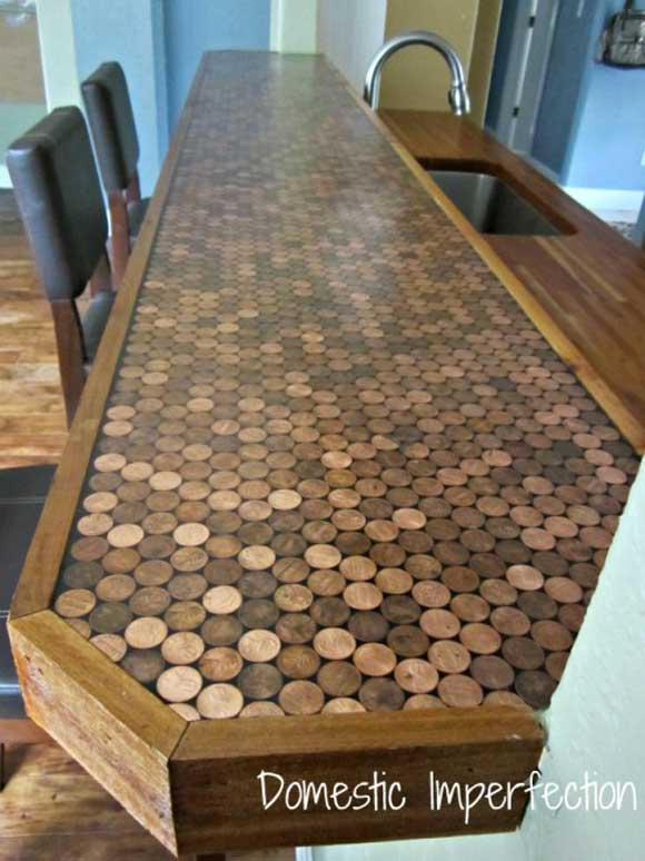 penny after This Penny Countertop Makes Cents