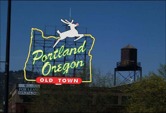 portland oregon sign Discovering Portland...All Over Again