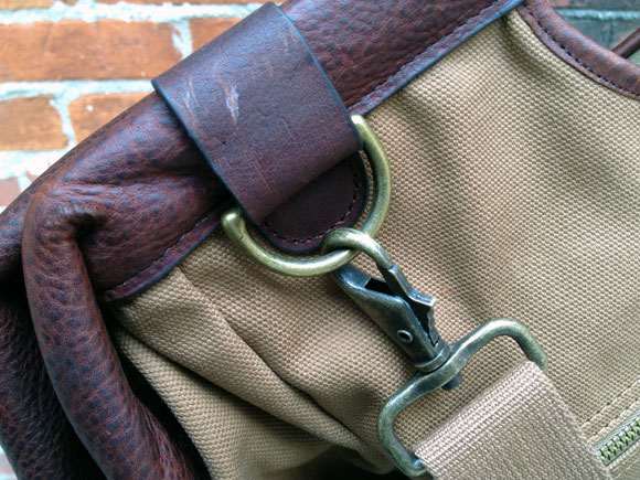 postman buckle Honor the Pony Express with The Postmaster Tote from Duluth Trading Company