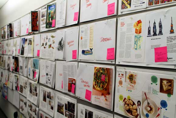 readymade editorial wall ReadyMade Magazine: Behind the Scenes