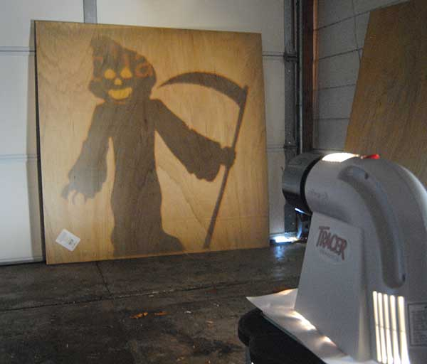 reaper shadow How to Build Halloween Silhouettes For a Spooky Yard