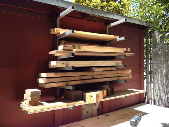 rockler lumber racks wood Organizing the Woodpile with Rockwell Lumber Racks
