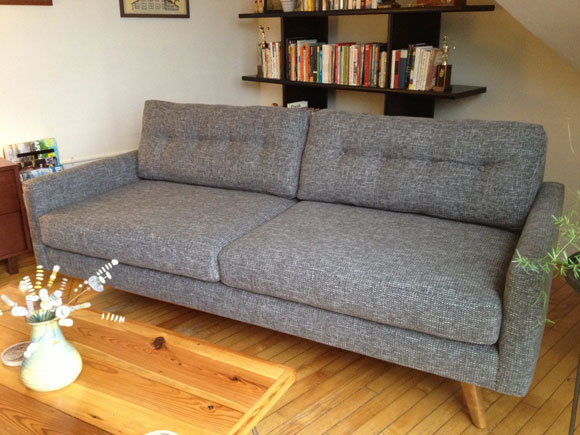 thrive fillmore loveseat Get the Mad Men Look with Mid Century Furniture from Thrive