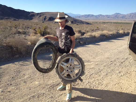 tire blowout desert How to Change a Flat Tire After a Blowout