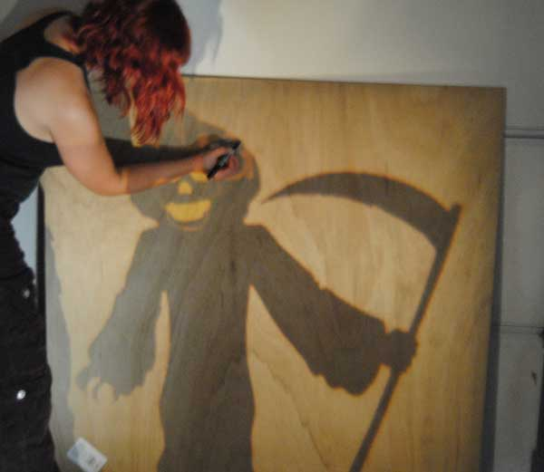 tracing reaper How to Build Halloween Silhouettes For a Spooky Yard