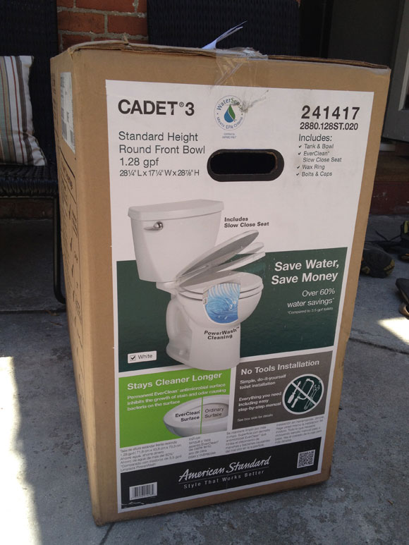 unpacking toilet How To Install an American Standard Cadet 3 Toilet   No Tools Required