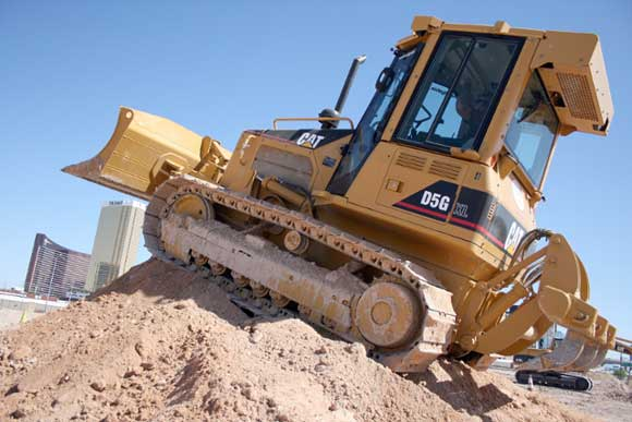 A Blast with a Bulldozer at Dig This in Las Vegas