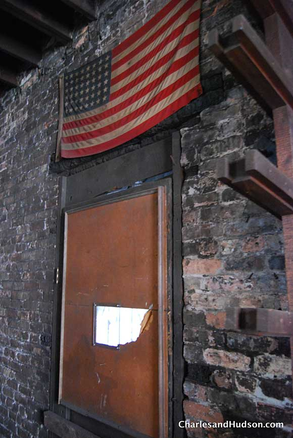 wood flag Inside a Chicago Woodshop   Untouched for 65 Years