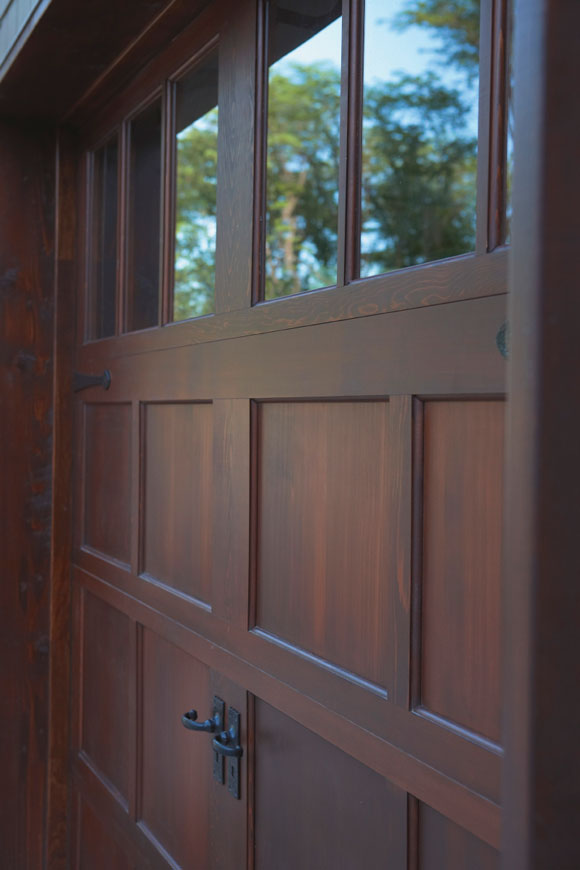 What 39 s new in garage door designs and materials - Making a steel door look like wood ...