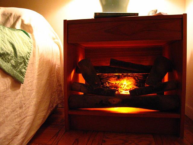 bedside fireplace
