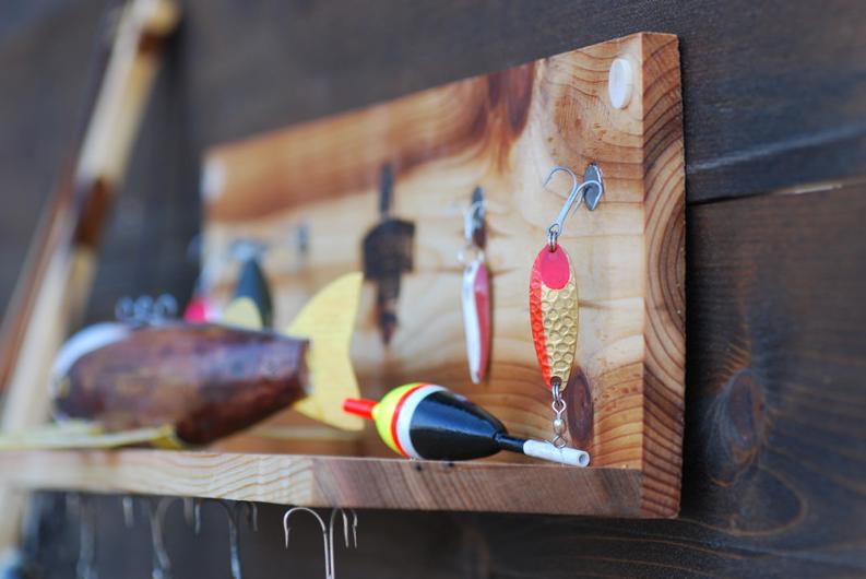 Fishing Lure Display Shelf