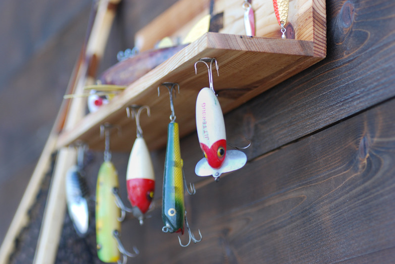 Fishing Lure Display Shelf