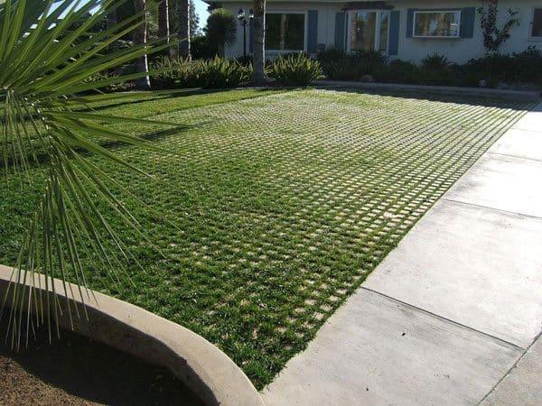 Drivable Grass Concrete Paving System